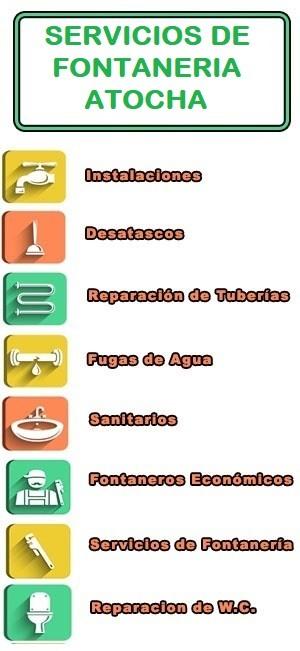 servicios de fontaneria en Atocha
