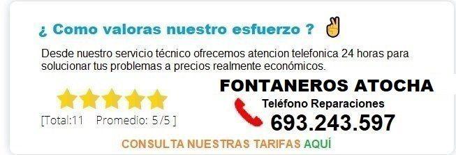 Fontanero Atocha precio